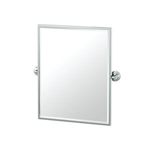 Marina Framed Small Rectangle Mirror Chrome
