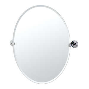 Marina Chrome Large Tilting Oval Mirror .