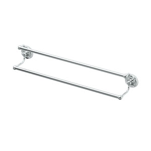 Designer II Chrome 24 Inch Double Towel Bar