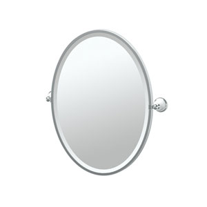 Franciscan Chrome Framed Oval Mirror