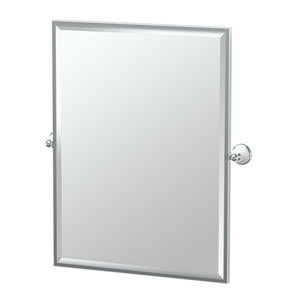 Franciscan Chrome Framed Large Rectangle Mirror