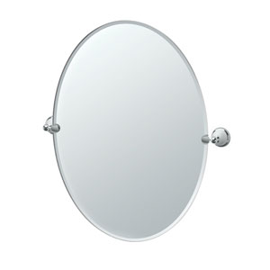 Franciscan Chrome Large Tilting Oval Mirror