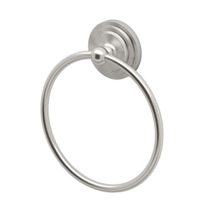 Marina Satin Nickel Towel Ring