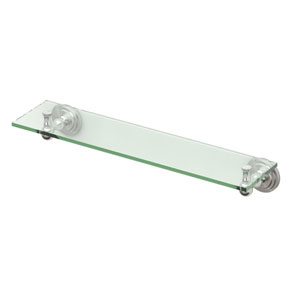 Marina Satin Nickel Glass Shelf