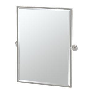 Marina Satin Nickel Framed Large Rectangle Mirror