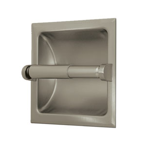 Recessed Satin Nickel Tissue Holder