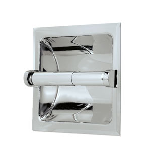 Recessed Chrome Tissue Holder