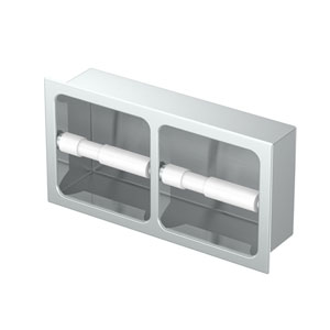 Double Recessed Tissue Holder Chrome