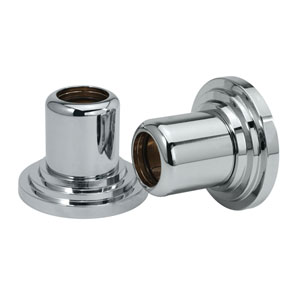 Marina Chrome Shower Rod Wall Flange