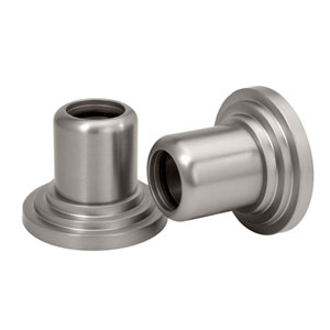 Marina Satin Nickel Shower Rod Wall Flange