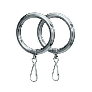 Chrome Shower Curtain Rings