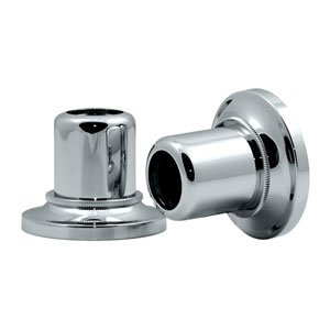 Tiara Chrome Shower Rod Wall Flange