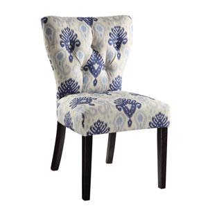Andrew Medallion Ikat Blue Chair