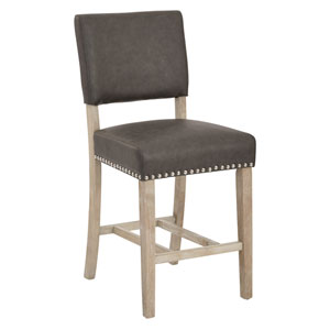Carson Elite Pewter Counter Stool