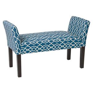 Kelsey Geo Blue Bench