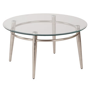 MG Tables Nickel Brush  Round Top Coffee Table