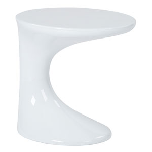 Slick White Side Table