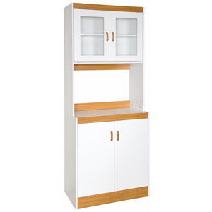 White Tall Microwave Cart