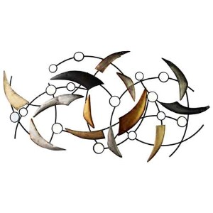Black and Silver Arched Curve Wall Decor