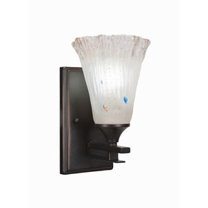 Uptowne Dark Granite One-Light Wall Sconce with Frosted Crystal Glass