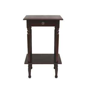 Deep Cherry Square Accent Table