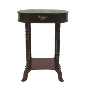 Mahogany Oval End Table