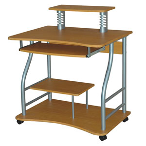 Beech Computer Cart and Casters