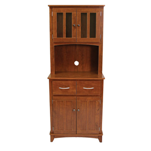 Oak Tall Microwave Cabinet