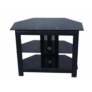Black Two-Shelf TV Stand