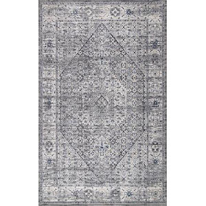 Vintage Medallion Doris Gray Rectangular: 4 Ft. x 6 Ft. Rug