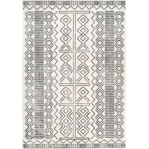 Tribal Shelly Ivory Rectangular: 6 Ft. 7 In. x 9 Ft. Rug
