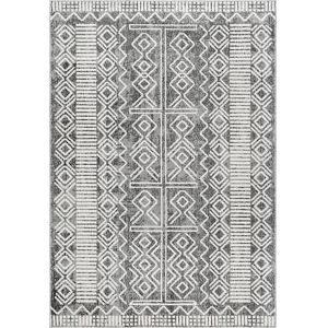 Tribal Shelly Gray Rectangular: 6 Ft. 7 In. x 9 Ft. Rug