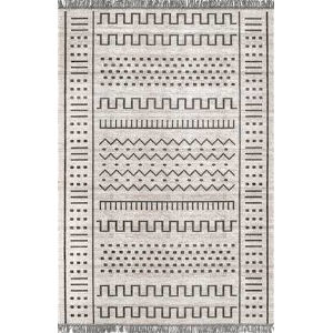 Tribal Cora Light Gray Rectangular: 6 Ft. 7 In. x 9 Ft. Rug