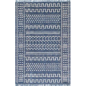 Tribal Cora Blue Rectangular: 5 Ft. x 8 Ft. Rug