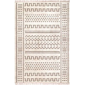Tribal Cora Beige Rectangular: 6 Ft. 7 In. x 9 Ft. Rug