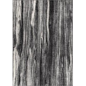 Maddie Abstract Black and White Rectangular: 6 Ft. 7 In. x 9 Ft. Rug