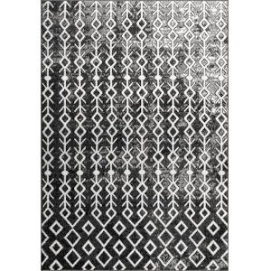Alice Black and White Rectangular: 7 Ft. 6 In. x 9 Ft. 6 In. Rug
