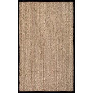 Elijah Seagrass Black Square: 6 Ft. Rug