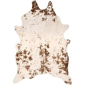 Iraida Faux Cowhide Brown Shaped: 3 Ft. 10 In. x 5 Ft. Rug