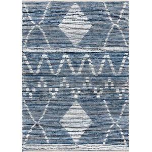 Woven Juanita Blue Rectangular: 5 Ft. x 8 Ft. Rug