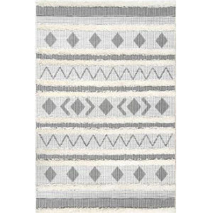 Tribal Lora Off White Rectangular: 7 Ft. 10 In. x 10 Ft. 10 In. Rug