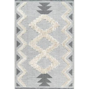 Chevron Sadie Off White Rectangular: 5 Ft. 3 In. x 7 Ft. 7 In. Rug