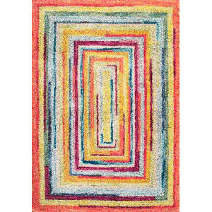 Hargis Labyrinth Multicolor Rectangular: 3 Ft. x 5 Ft. Rug