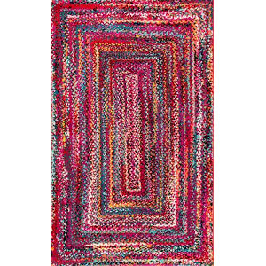 Hargis Labyrinth Red Rectangular: 4 Ft. 1 In. x 6 Ft. Rug