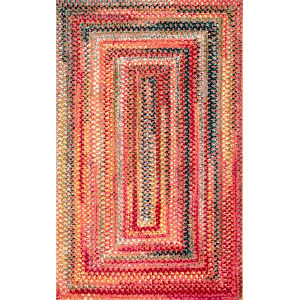 Hargis Labyrinth Rust Rectangular: 8 Ft. x 10 Ft. Rug