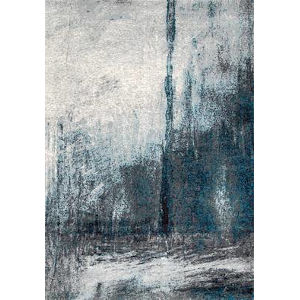 Noreen Abstract Gray Rectangular: 10 Ft. x 14 Ft. Rug
