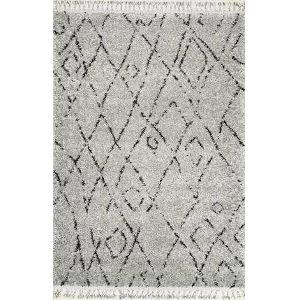 Nieves Moroccan Gray Rectangular: 5 Ft. 3 In. x 7 Ft. 7 In. Rug