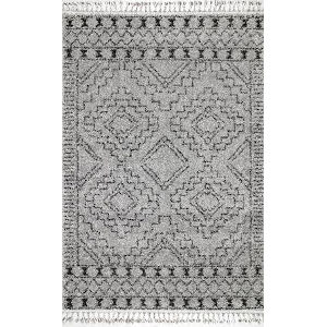 Vasiliki Moroccan Tribal Gray Rectangular: 5 Ft. 3 In. x 7 Ft. 7 In. Rug