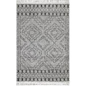 Vasiliki Moroccan Tribal Gray Rectangular: 7 Ft. 10 In. x 10 Ft. Rug