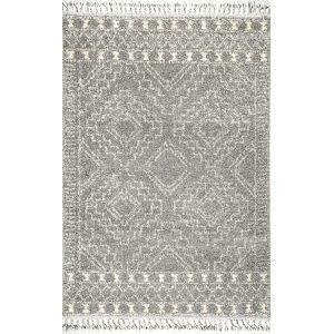 Vasiliki Moroccan Tribal Silver Rectangular: 6 Ft. 7 In. x 9 Ft. Rug